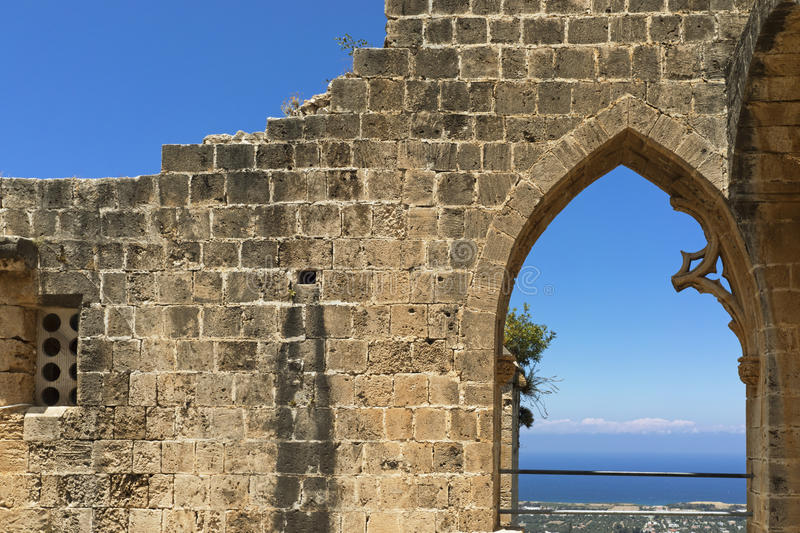 Nordlig Cypern Bellapais abbotskloster arkivbild