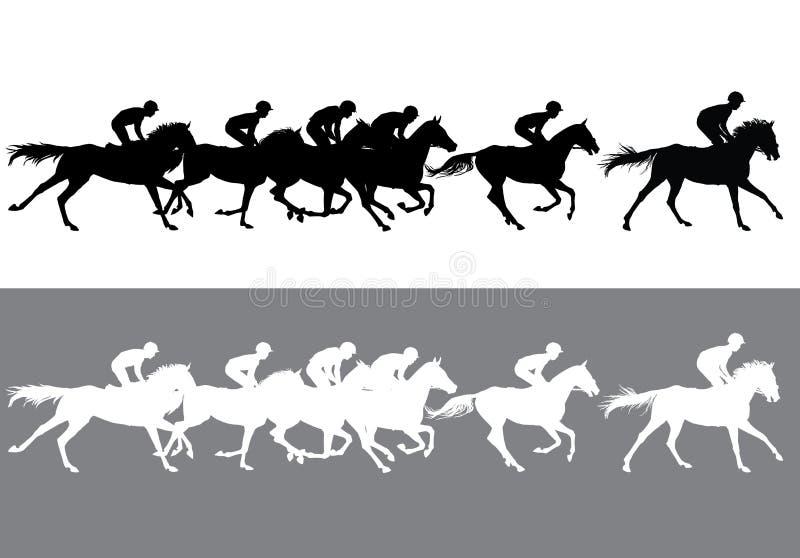 nordlig pyatigorsk tävlings- russia för caucasus hippodromehäst royaltyfri illustrationer