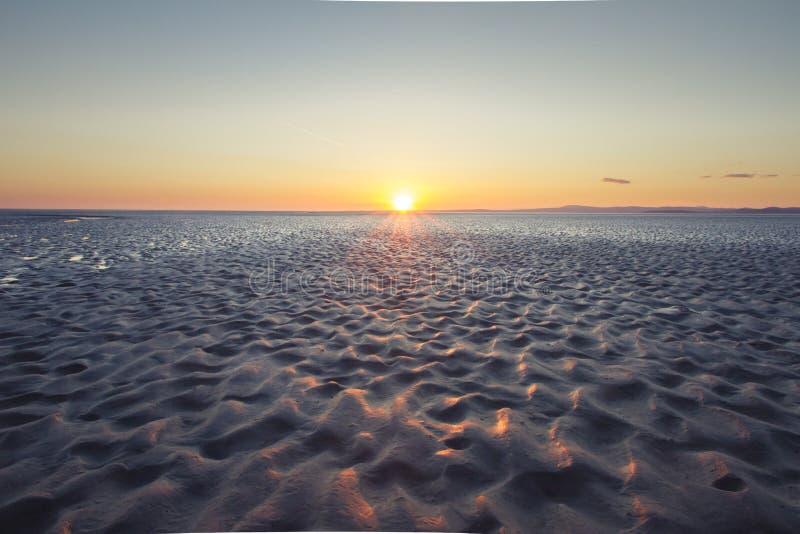 Nordlig solnedgång arkivfoto