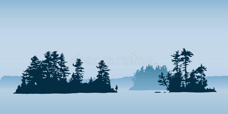 Nordliga öar royaltyfri illustrationer