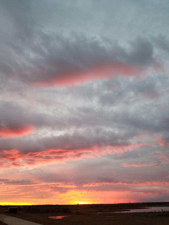 Nordliga Alberta Sunset royaltyfri foto