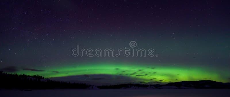 nordliga färgrika lampor för norrsken royaltyfria foton
