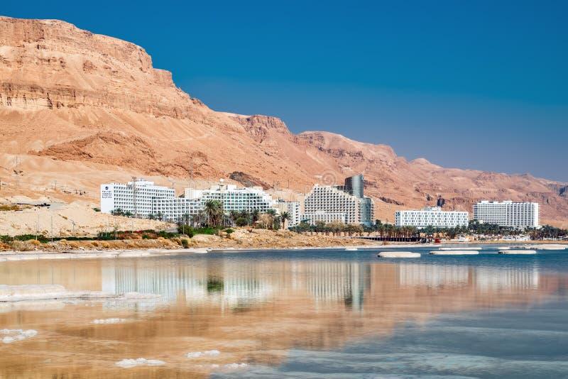 Nordliga hotell av det döda havet arkivfoto