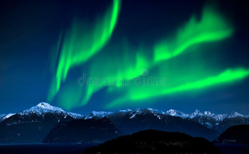 Nordliga ljus Aurora Borealis arkivfoto