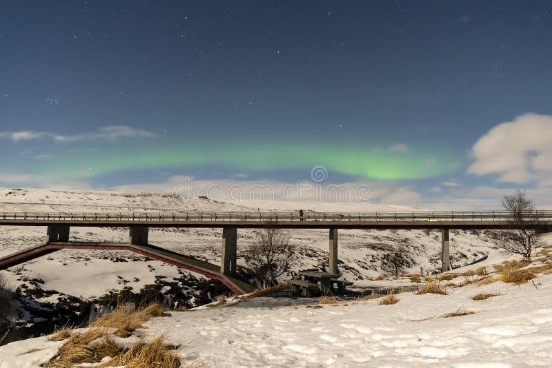 Nordliga ljus Island arkivfoton