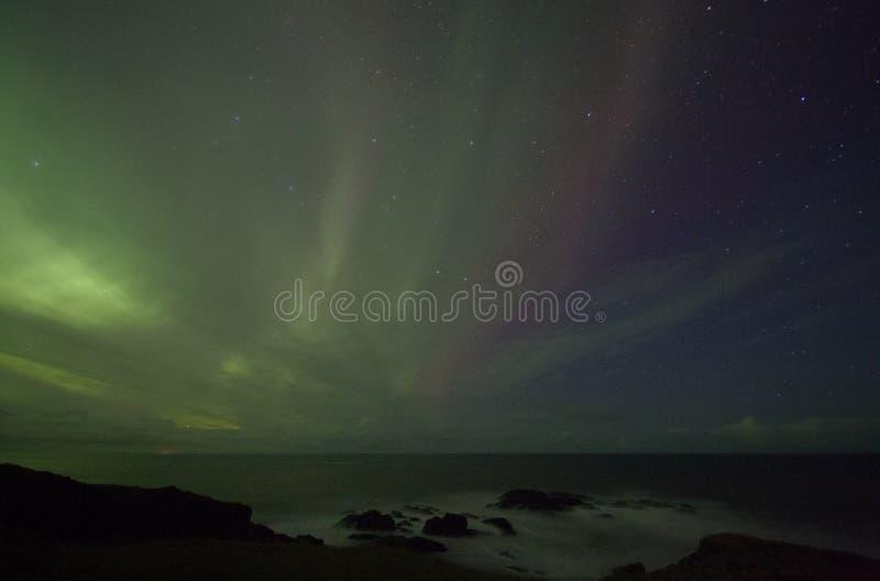 Nordliga ljus Island fotografering för bildbyråer