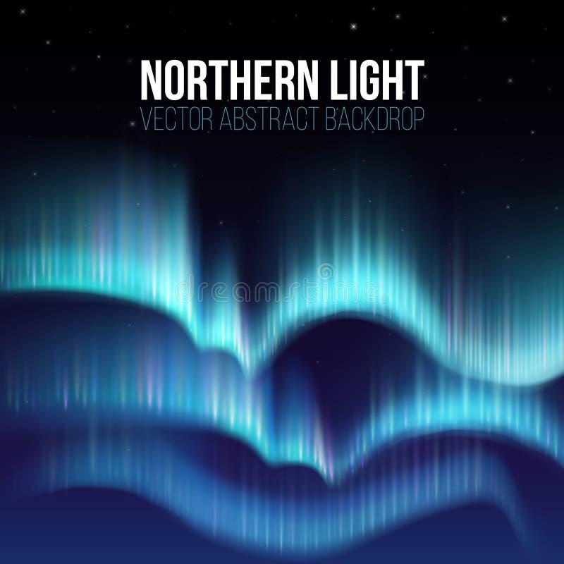 Nordliga ljus, nunavut Kanada, för nattabstrakt begrepp för pol arktisk bakgrund royaltyfri illustrationer