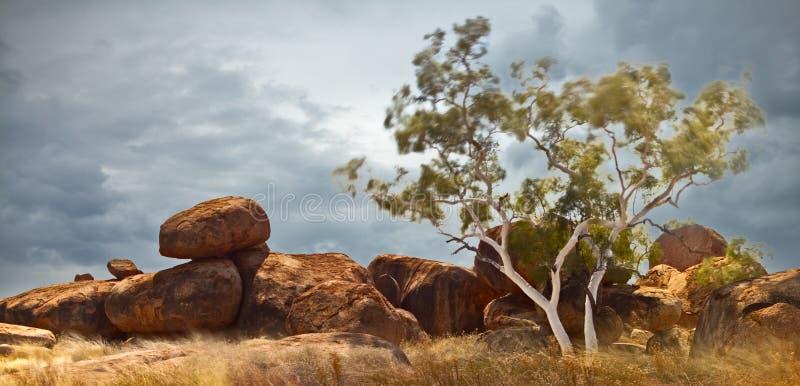 nordligt territorium för Australien jäkelmarmorar fotografering för bildbyråer