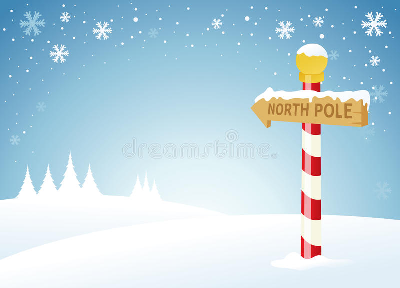 Nordpol stock abbildung