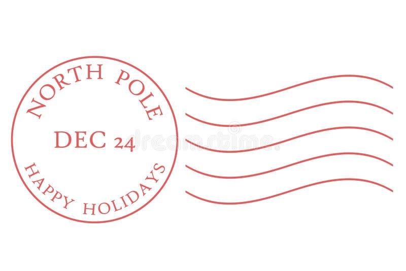 Nordpol-Poststempel lizenzfreie abbildung