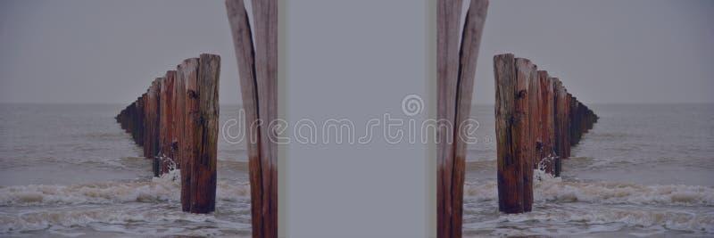 Nordsea,被反映的图片 库存例证