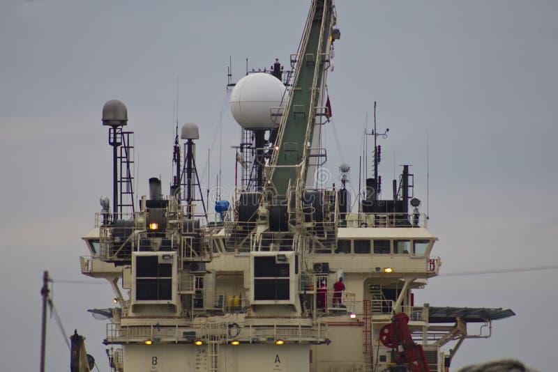 Nordsee-Öl Rig Supply Ship lizenzfreies stockbild