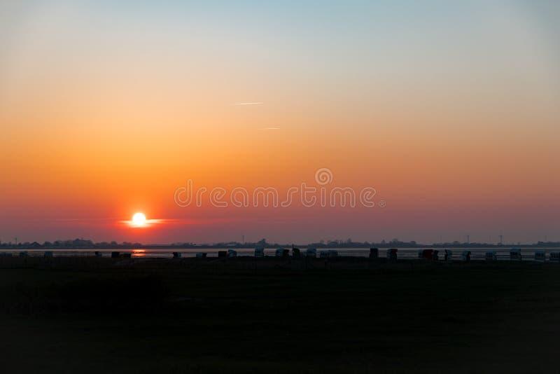 Nordsee Deutschland Wilhelmshaven am Abend stockfotos