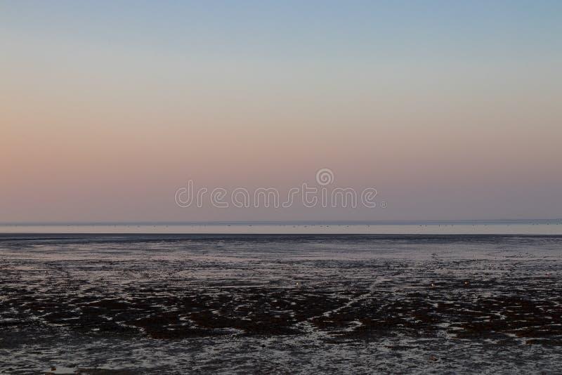 Nordsee Deutschland Wilhelmshaven am Abend lizenzfreies stockfoto
