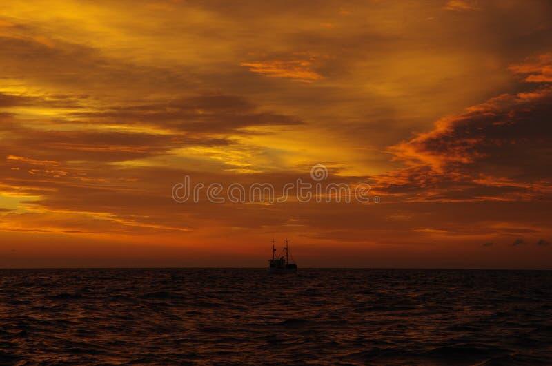 Nordseeabend lizenzfreie stockfotos