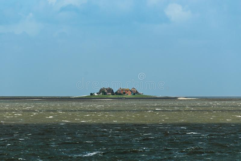 Nordsjö/norr FrisianWadden hav royaltyfria foton