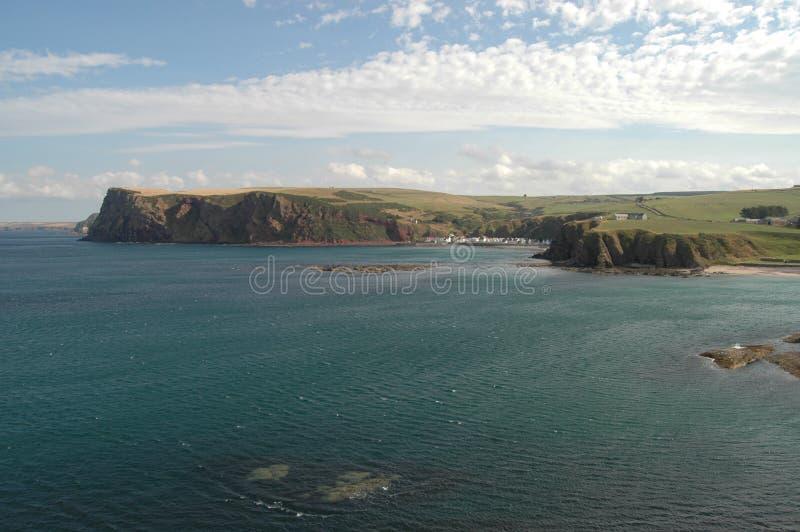 Nordsjö- och Aberdeenshire kustlinje, Skottland royaltyfria bilder