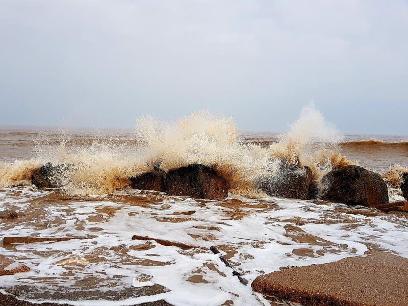 Nordsjön England royaltyfria bilder
