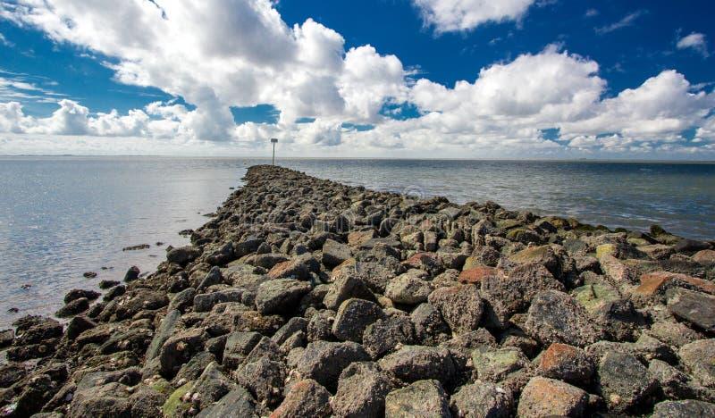 Nordsjön Schleswig-Holstein royaltyfria foton