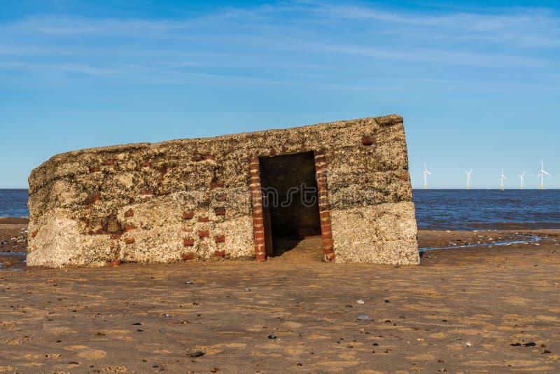 Nordsjönkust i Caister-på-havet, Norfolk, England, UK fotografering för bildbyråer