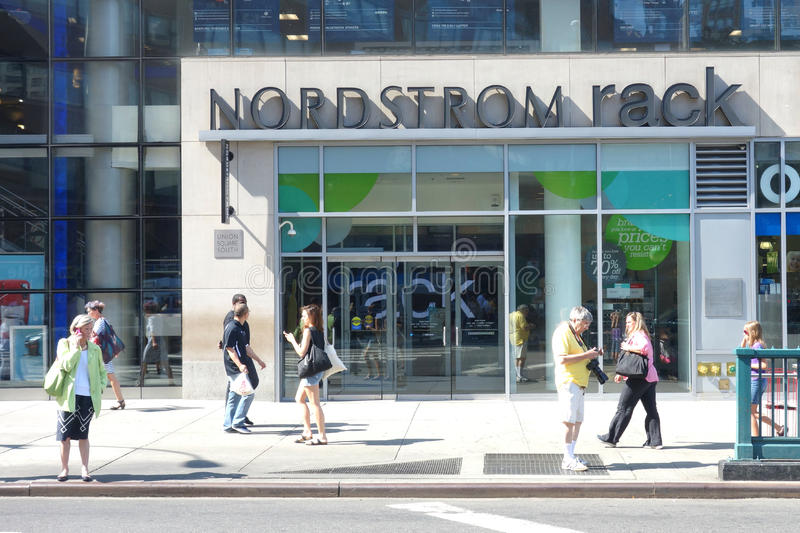 Nordstrom Rack. A Nordstrom Rack store in Union Square, New York City. Nordstrom Rack is the off-price retail division of Nordstrom Inc., a fashion retailer royalty free stock photo