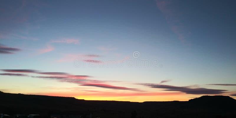 nordvästlig härlig natur för solnedgångar arkivfoto
