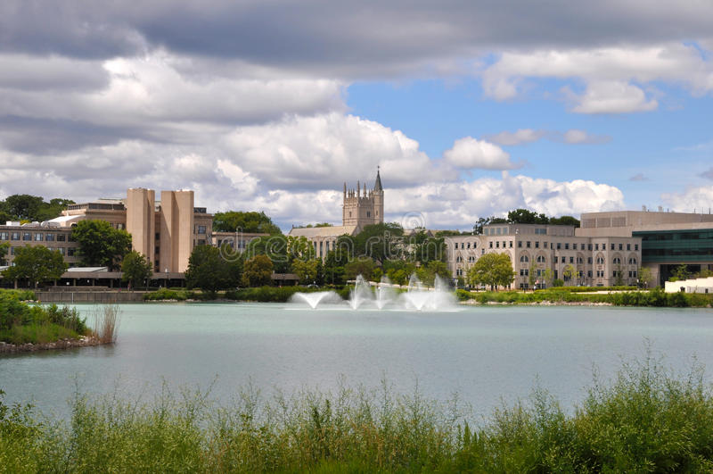 Nordvästlig universitetsområde arkivbilder