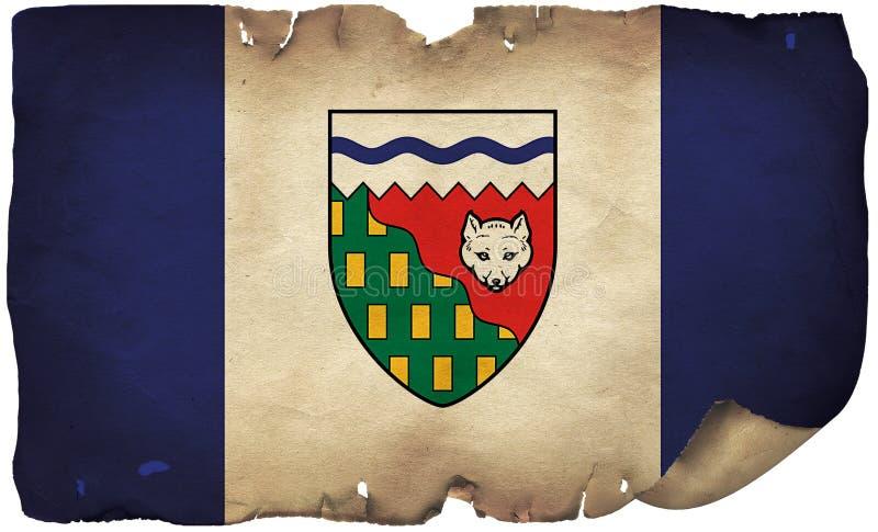 Nordwest-Territorialflagge auf altem Papier lizenzfreie stockbilder