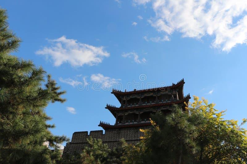 Nordwesteckturm alter Stadt Shenyangs, China stockfotografie