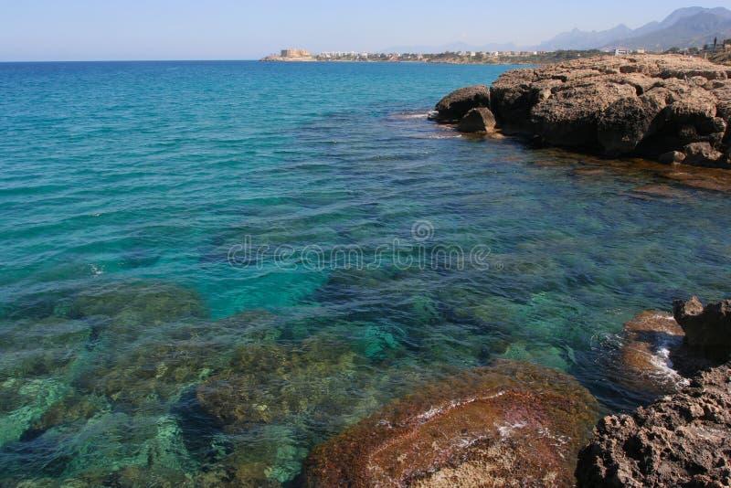 Nordzypern-Meer lizenzfreie stockfotos