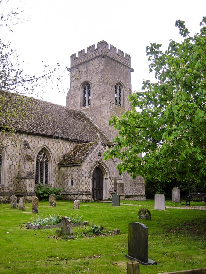 Norfolk Village church. Norfolk, England - April 30, 2009 : Village church and cemetery in Norfolk England stock photo