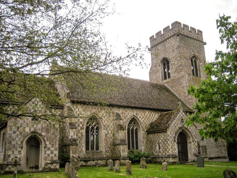 Norfolk Village church. Norfolk, England - April 30, 2009 : Village church and cemetery in Norfolk England stock photography