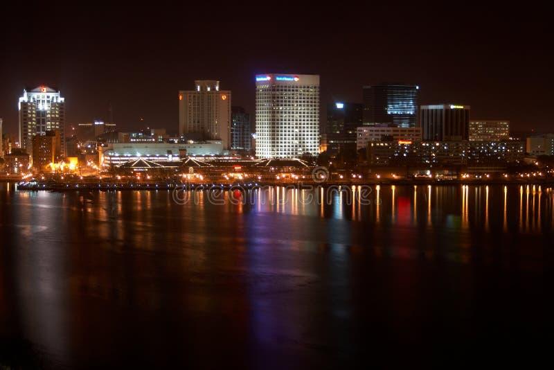 Norfolk fotografii linii horyzontu ulicy widok obraz stock