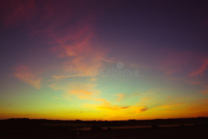 Norfolk himlar arkivbild