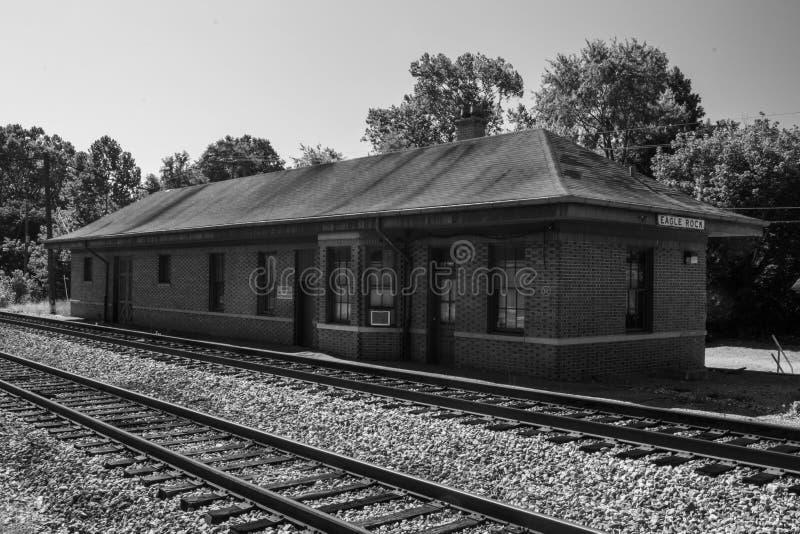 Norfolk histórica y depósito occidental del pasajero, Eagle Rock, Virginia imagenes de archivo