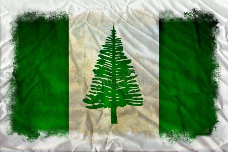 Norfolk-Inselschmutzflagge lizenzfreies stockfoto