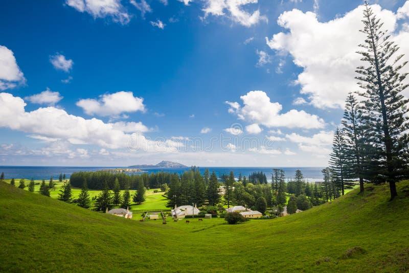 Norfolk Island. A nice landscape shot overlooking Kingston, Norfolk Island stock image