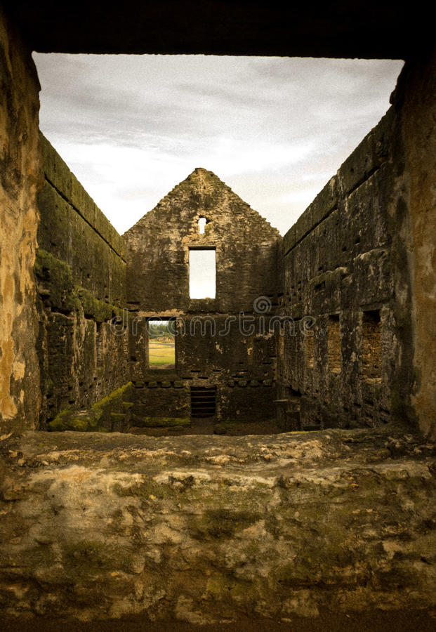 Norfolk Island Prison Ruins. Ruins of the convict prison at Kingston (World Heritage Listed Area), Norfolk Island, Australia royalty free stock image