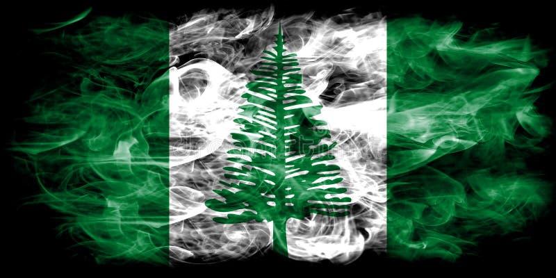 Norfolk island smoke flag, Australia dependent territory flag stock photo