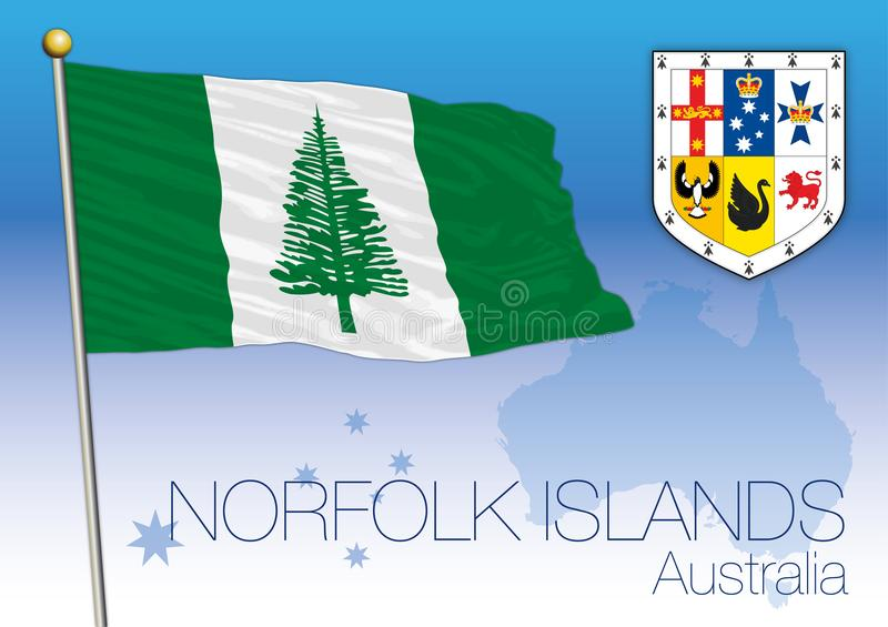Norfolk Islands, flag of the state and territory, Australia vector illustration
