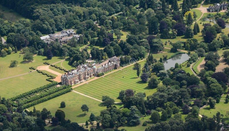 Norfolk Od powietrza - Sandringham dom fotografia stock