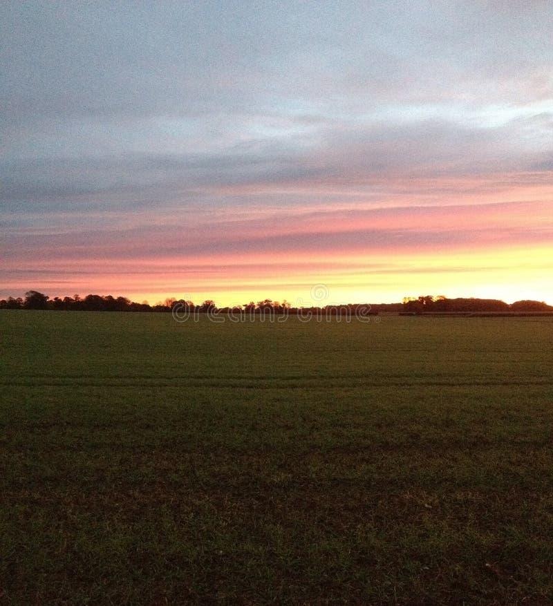 Norfolk soluppgång arkivbild