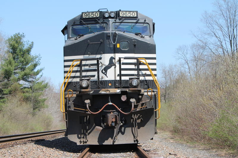 Norfolk Southern Locomotive 9650. Awaits it's next train stock photography