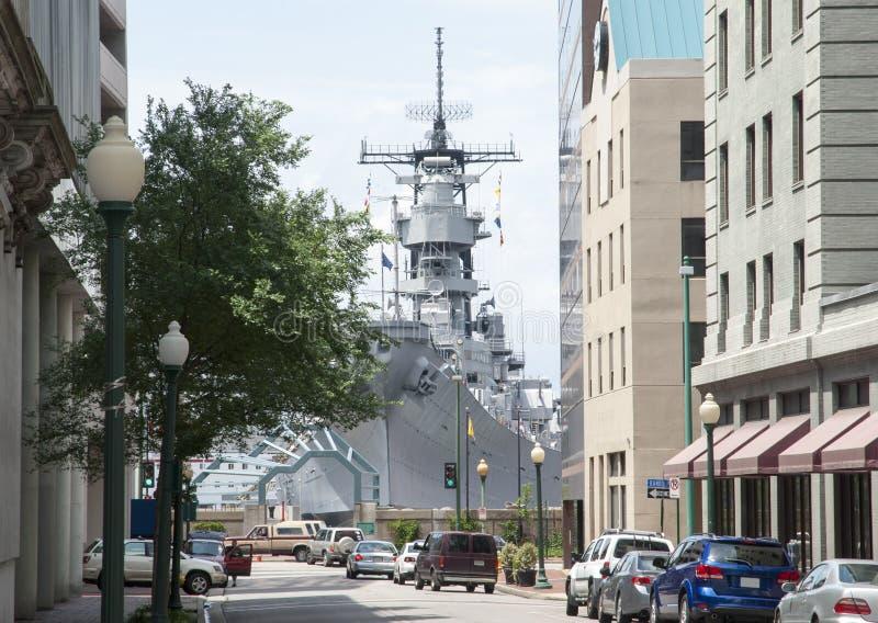 Norfolk W Plume Street Navy foto de stock