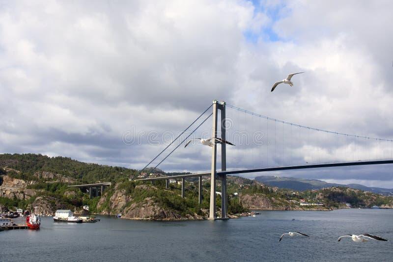 Norge. Askey bro fotografering för bildbyråer
