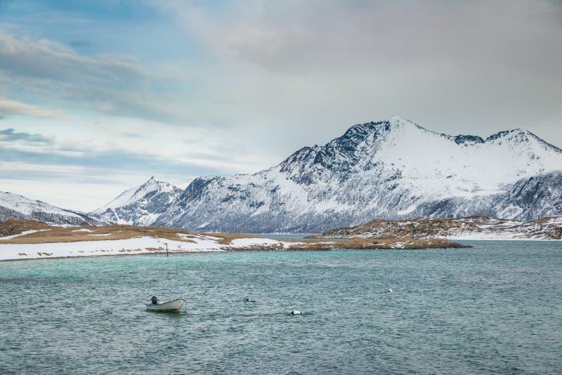 Norge berg i vinter royaltyfria foton