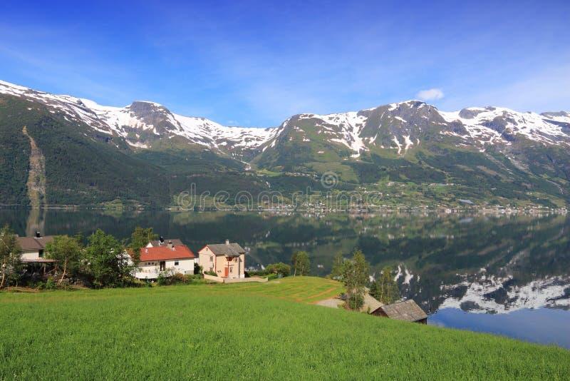 Norge fiord royaltyfri bild