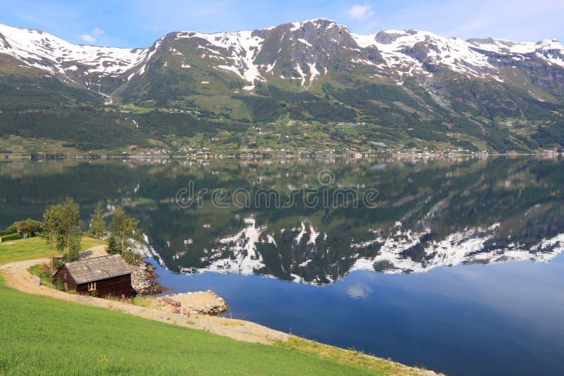 Norge fiord fotografering för bildbyråer