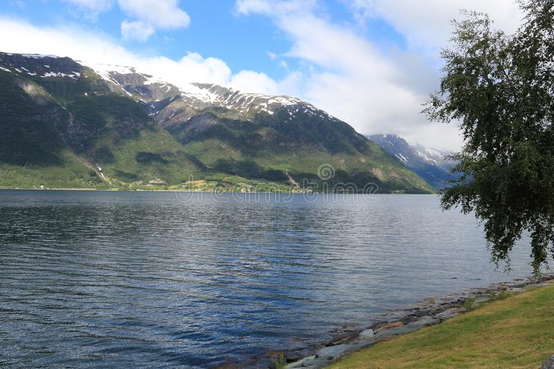 Norge fiord arkivfoton
