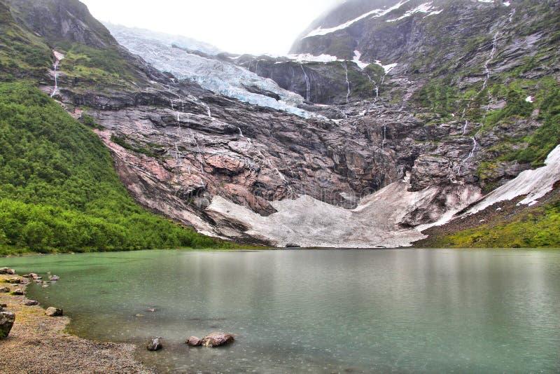 Norge glaci?r royaltyfria bilder